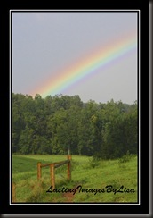 rainbow pic with frame