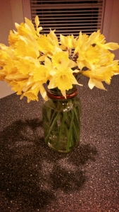 Handpicked early spring flowers from a sweet friend